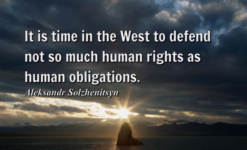 Human Rights v. HumanObligations